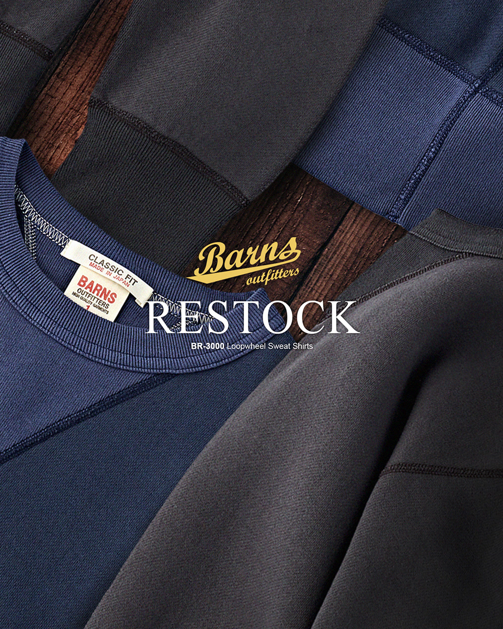 [BARNS OUTFITTERS] SWEAT SHIRTS RESTOCK