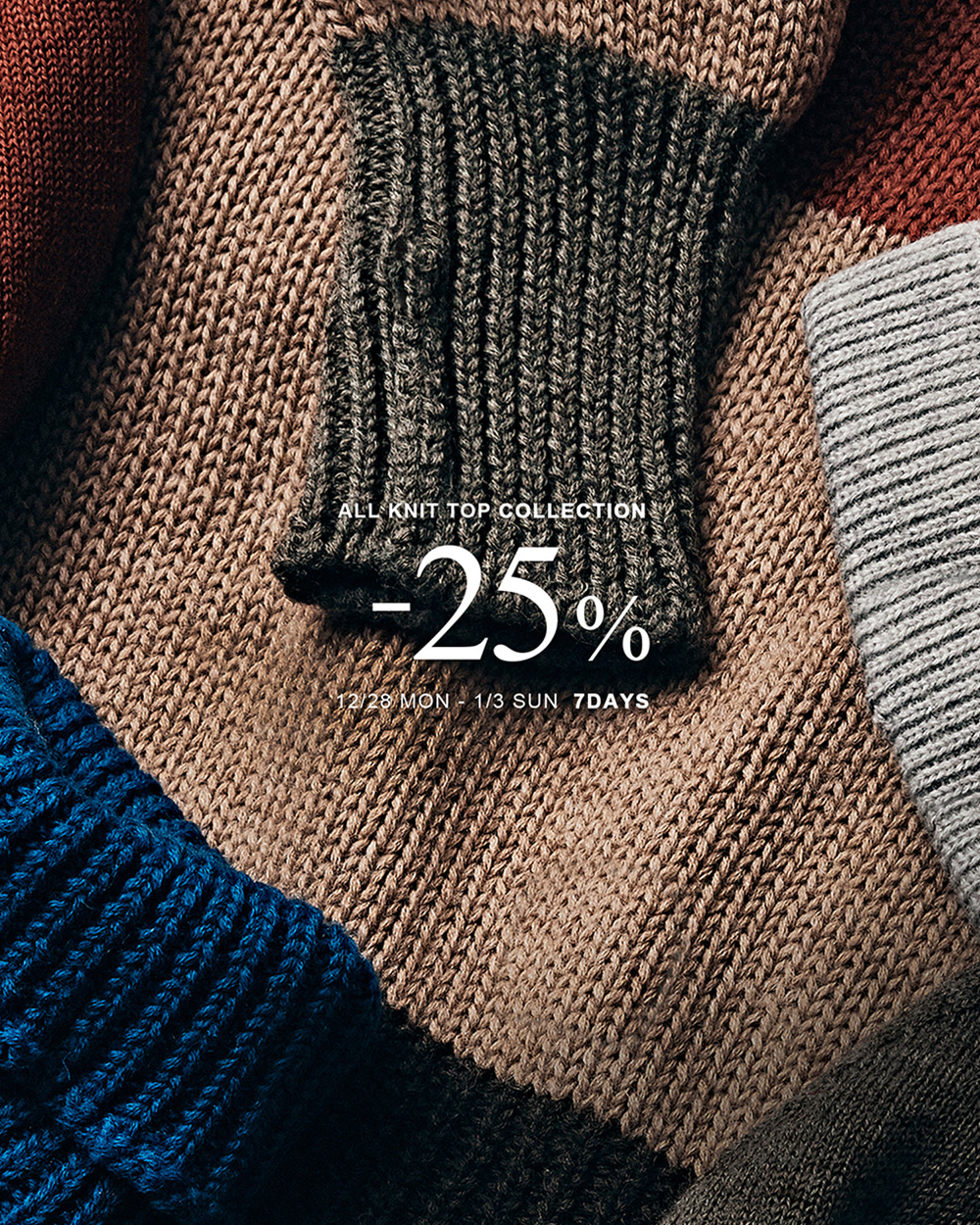 [MODE-MAN] KNIT CATEGORY -25% SALE