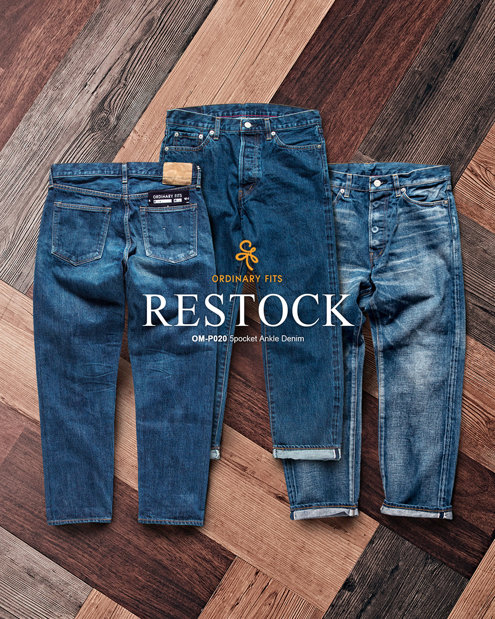 [ORDINARY FITS] ANKLE DENIM RESTOCK