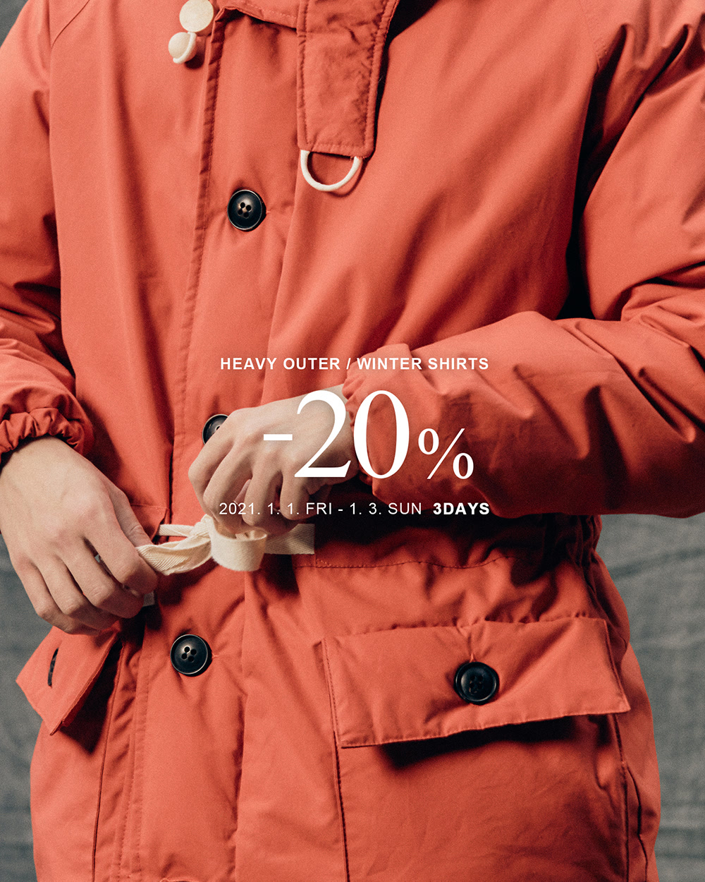 [MODE-MAN] HEAVY OUTER / WINTER SHIRTS -20% SALE