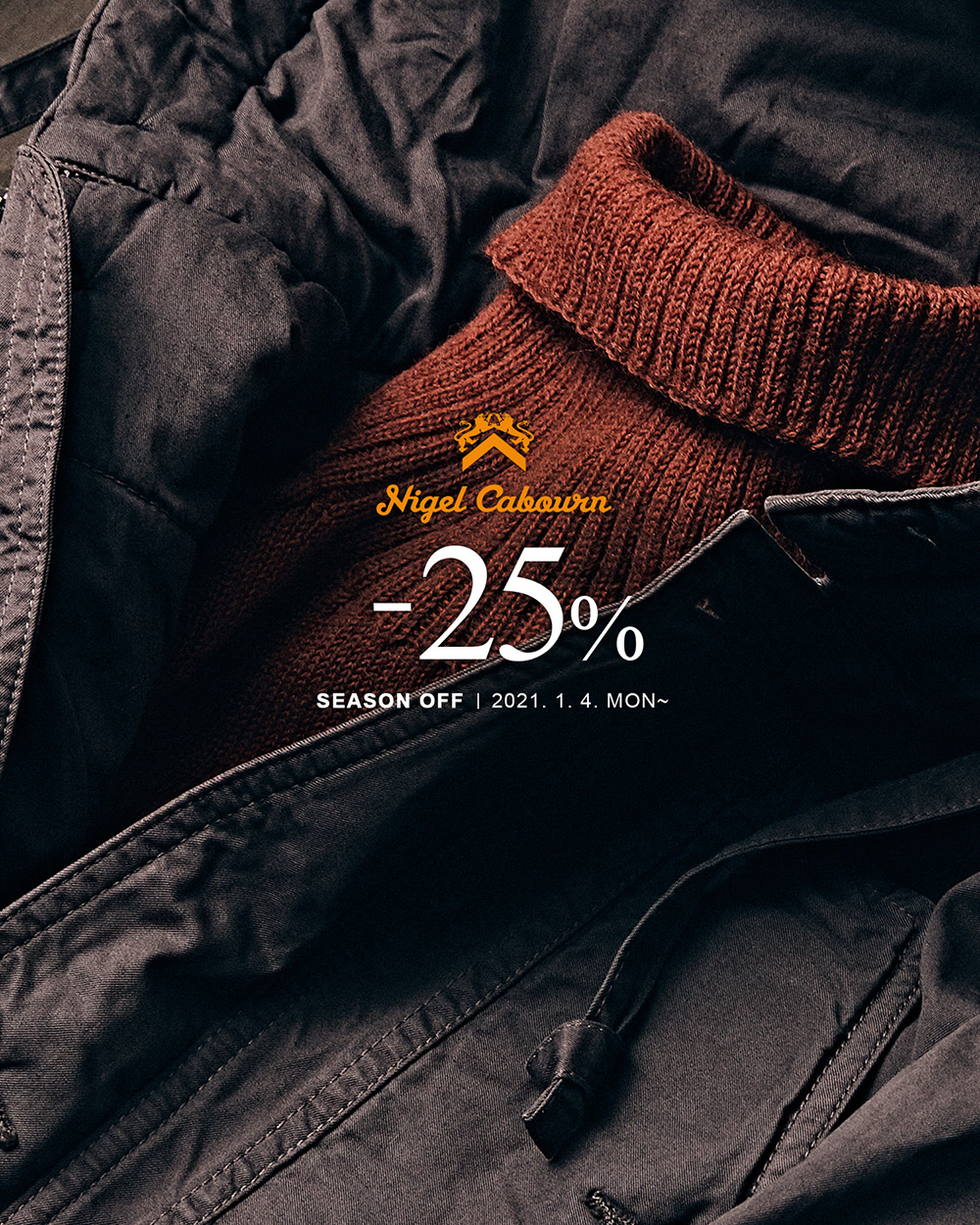 [NIGEL CABOURN] SEASON OFF -25%