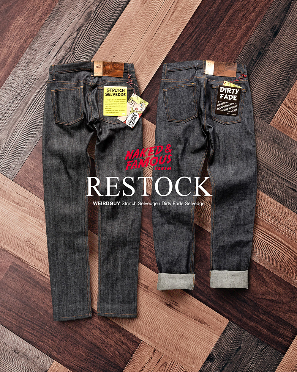 [NAKED&FAMOUS] WEIRDGUY DENIM RESTOCK